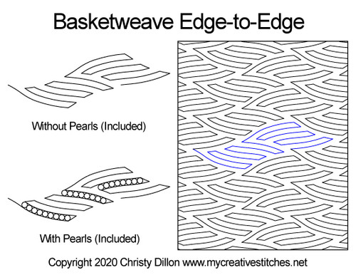 Basketweave edge to edge quilting design