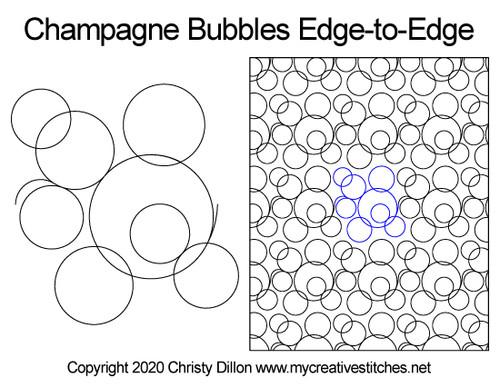 Champagne Bubbles Edge-to-Edge