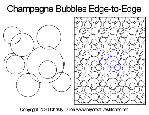 Champagne bubbles edge to edge designs