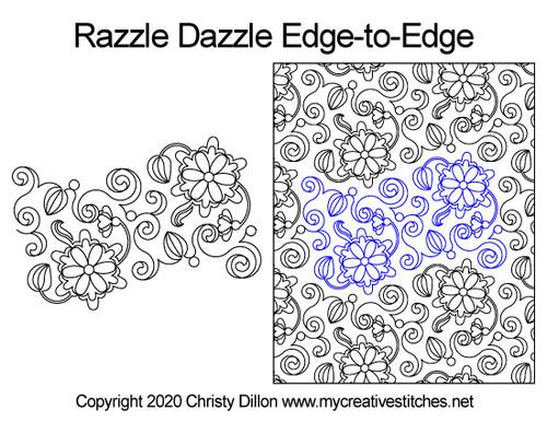Razzle dazzle edge-to-edge quilt pattern