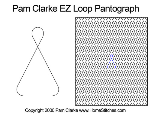 Pam Clarke ez loop edge-to-edge quilt pattern