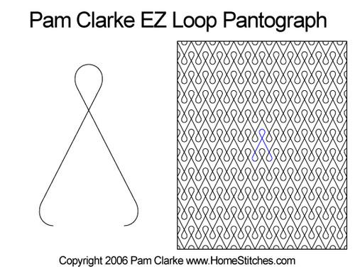 Pam Clarke ez loop edge-to-edge quilt pattern