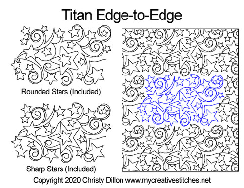 Titan edge-to-edge quilt pattern