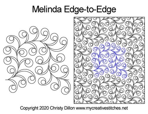 Melinda edge-to-edge quilt pattern