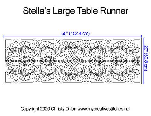 Stella's large table runner quilt pattern