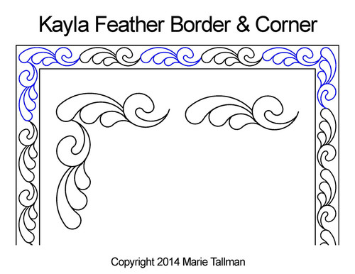 Kayla feather border & corner quilt design