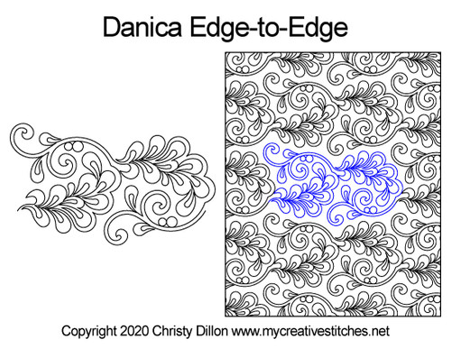 Danica edge-to-edge quilt pattern