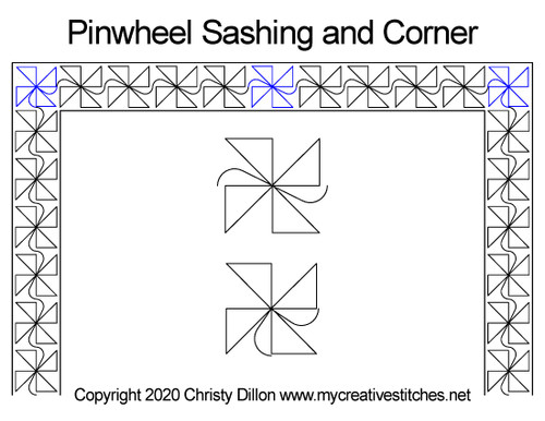 Pinwheel Sashing and Corner