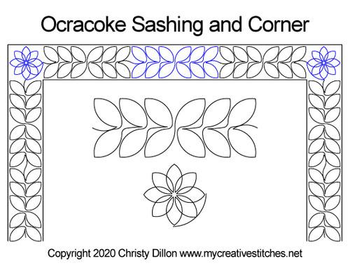 Ocracoke sashing & corner quilt design