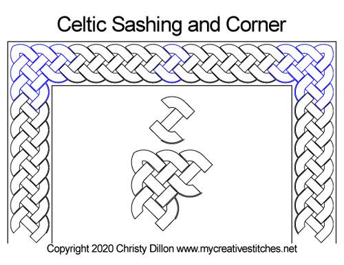 Celtic Sashing and Corner
