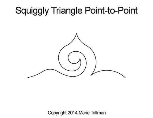Squiggly triangle p2p quilting pattern