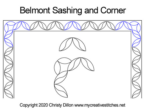 Belmont sashing & corner quilt design
