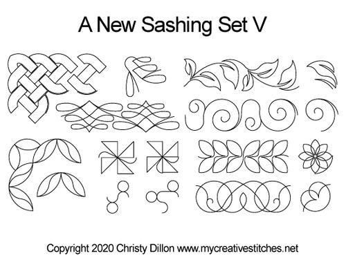 A new sashing set v quilt designs