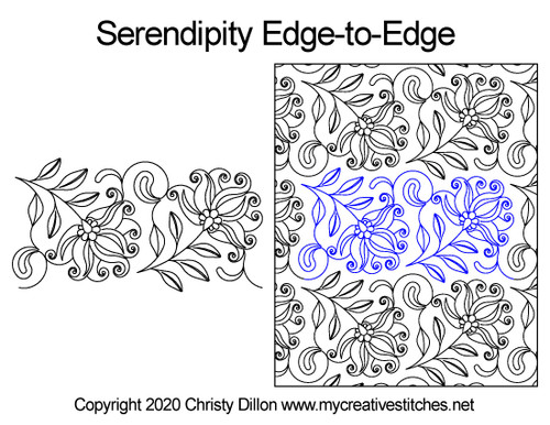 Serendipity edge-to-edge quilt pattern