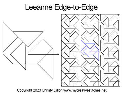 Leeanne edge-to-edge quilt pattern