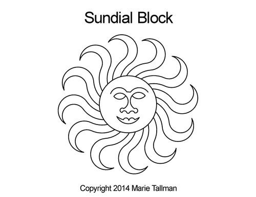 Marie Tallman Sundial Block
