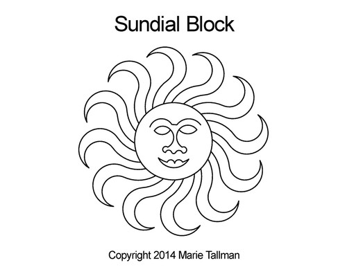 Sundial quilting pattern for blocks