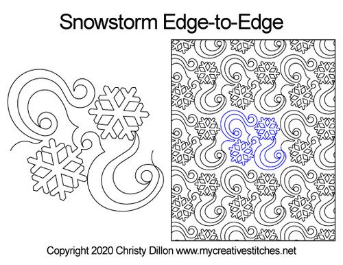 snowstorm edge-to-edge quilt pattern