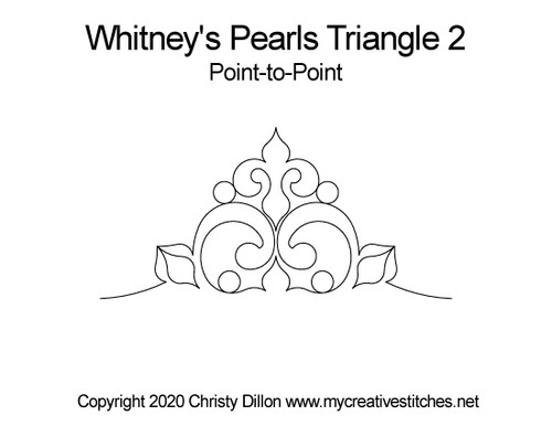 Whitney's pearls triangle point-to-point quilt pattern
