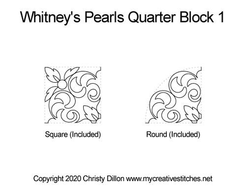 Whitney's pearls quarter block quilt pattern