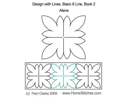 Alene basic 8 line digital quilting design