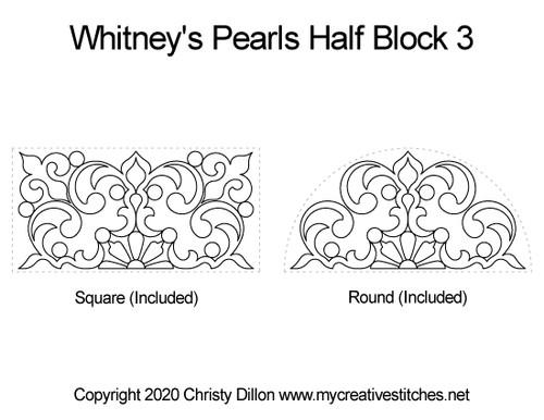 Whitney's pearls half block quilt pattern
