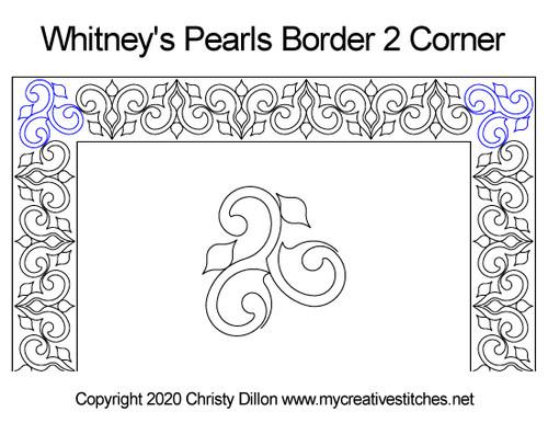 Whitney's pearls border corner quilt pattern