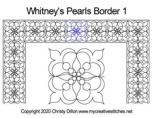 Whitney's pearls border quilt pattern