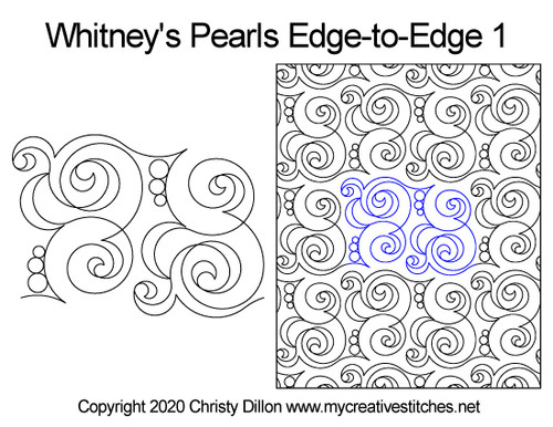 Whitney's pearls edge-to-edge quilt pattern