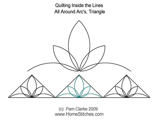 All around arc's triangle quilting designs