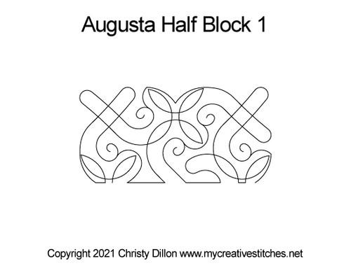 Augusta half block quilt pattern