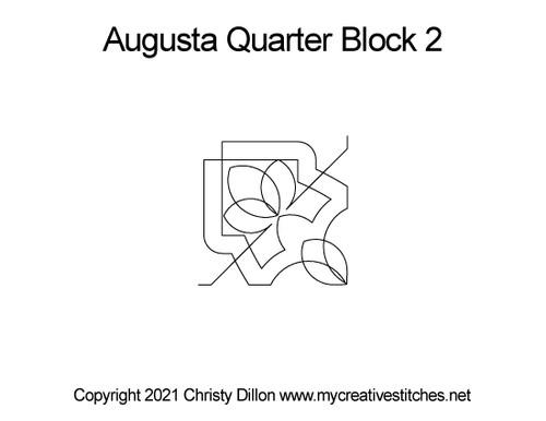 Augusta quarter block quilt pattern