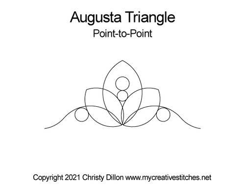 Augusta point-to-point triangle quilt pattern