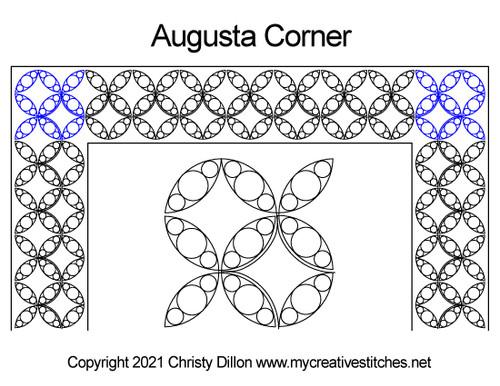 Augusta border corner quilt pattern