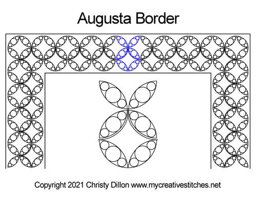 Augusta border quilt pattern