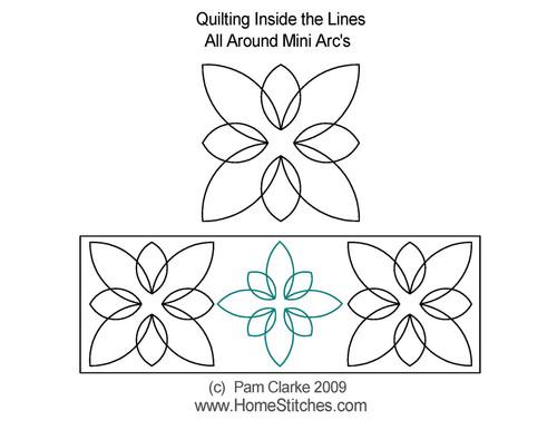 All around mini arc's quilting design