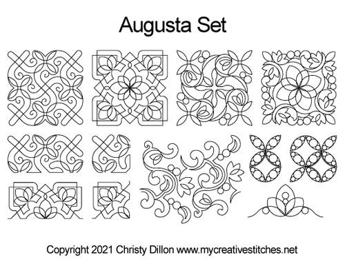 Augusta quilt pattern set