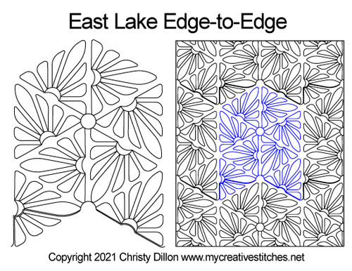 East lake edge-to-edge quilt pattern