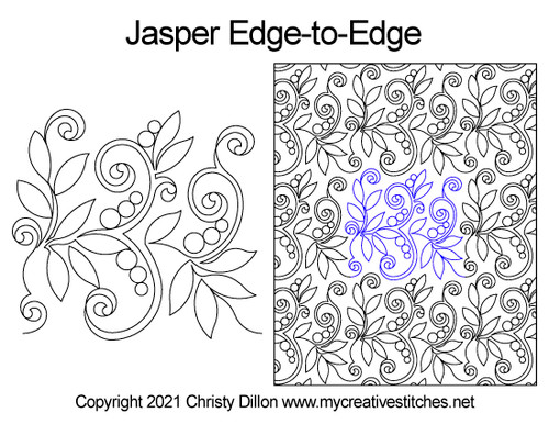 Jasper edge-to-edge quilt pattern