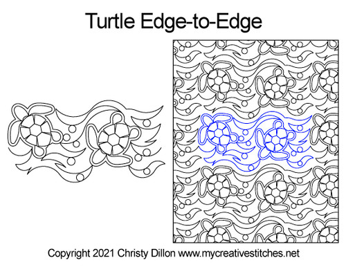 turtle edge-to-edge quilt pattern