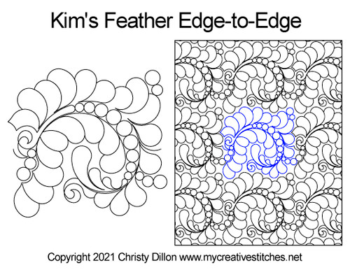 Kim's feather edge-to-edge quilt pattern