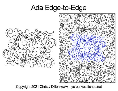 Ada edge-to-edge quilt pattern