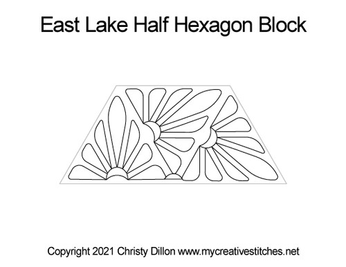East lake half hexagon block quilt pattern