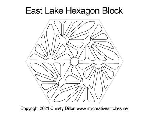 East lake hexagon block quilt pattern