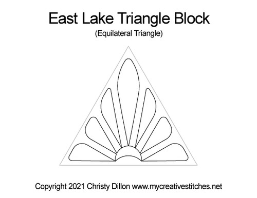 East lake equilateral triangle block quilt pattern
