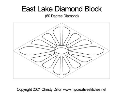 East lake 60 degree diamond block quilt pattern