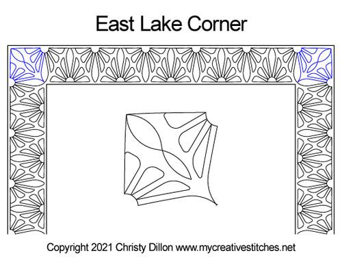 East lake border corner quilt pattern