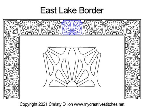 East lake border quilt pattern