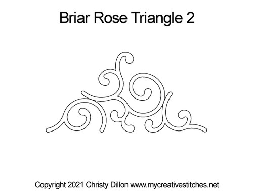 Briar rose triangle 2 quilt pattern