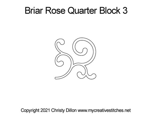 Briar Rose quarter block 3 quilt pattern